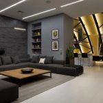 Diseño interior de moderno departamento
