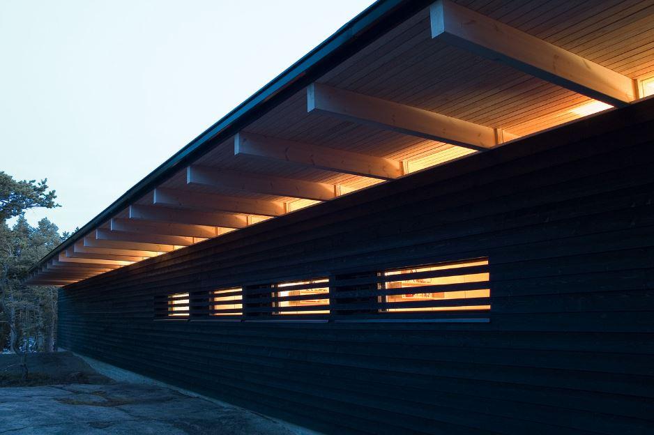 Diseño de hermosa casa de campo, construcción moderna con estructura ...