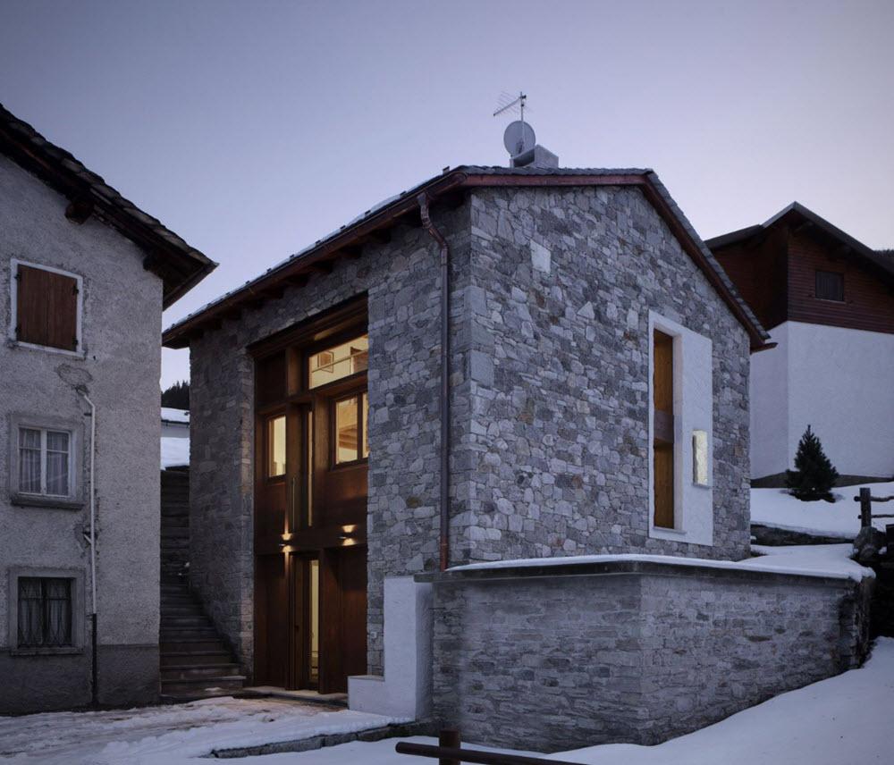 Hermosa casa de piedra