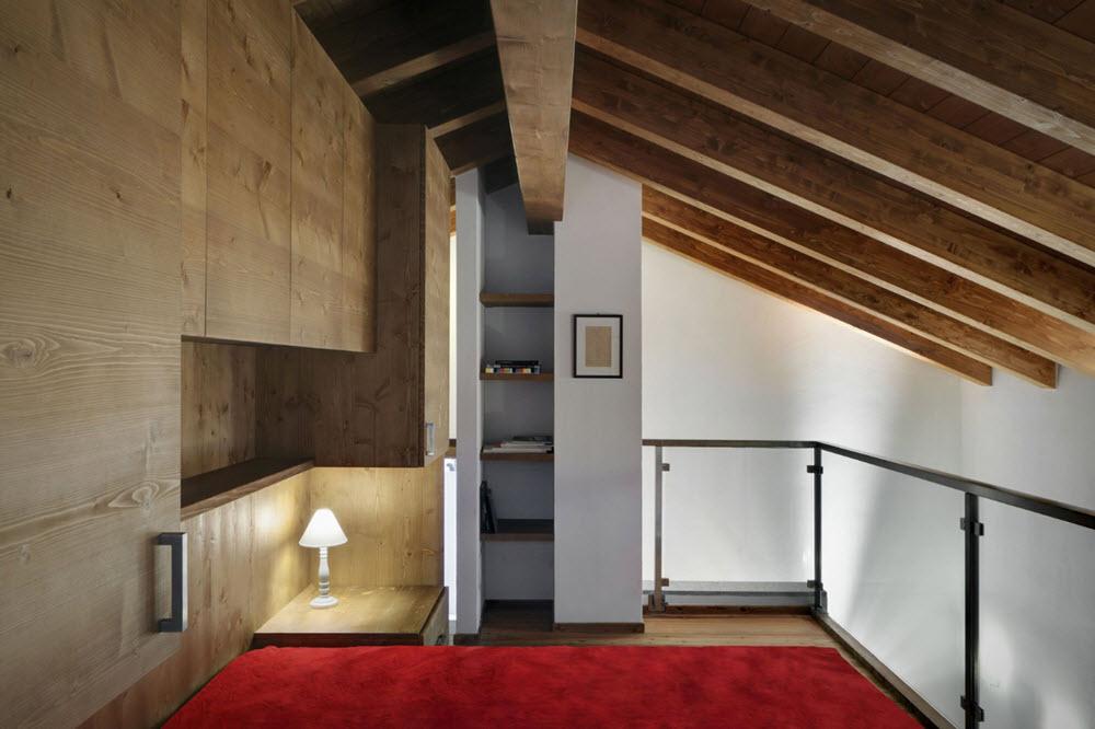 Interior de moderno dormitorio