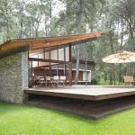 Moderna casa de campo de un piso