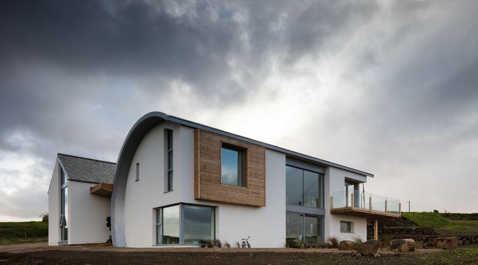 Dise O De Moderna Casa De Dos Pisos Y Cuatro Dormitorios