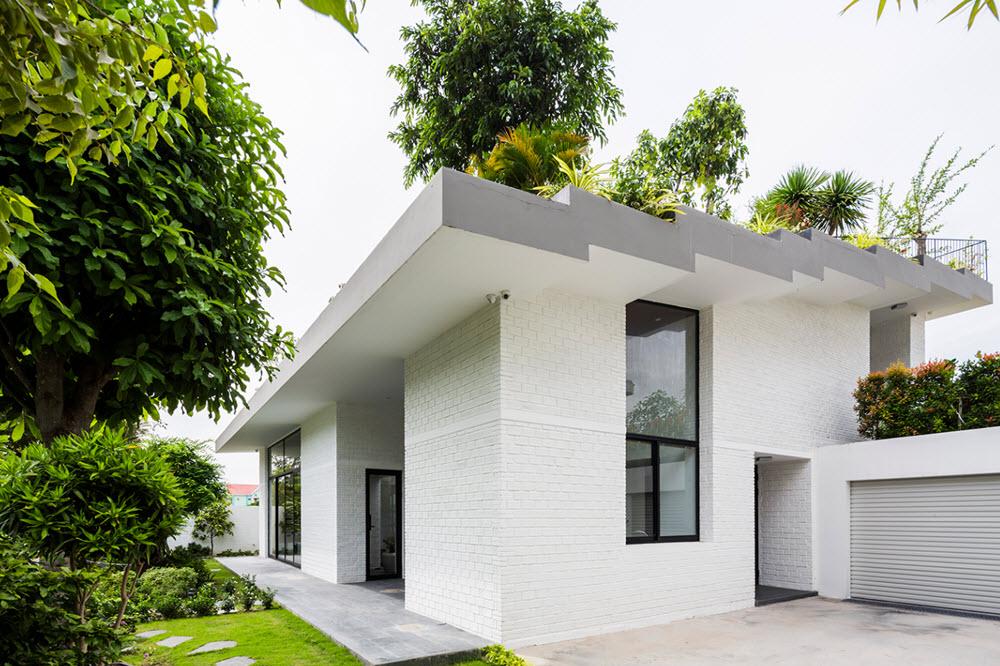 Planos de casa moderna de dos pisos con techo verde for Techos de casas modernas