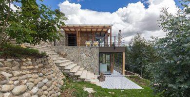 Moderna casa de piedra