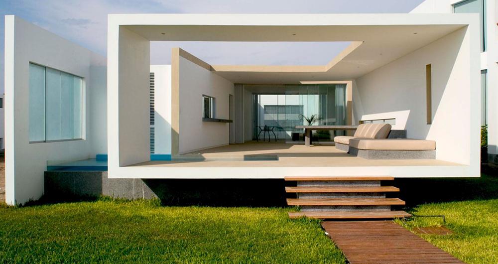 Dise o de moderna casa de playa amplios interiores - Diseno de interiores casas modernas ...