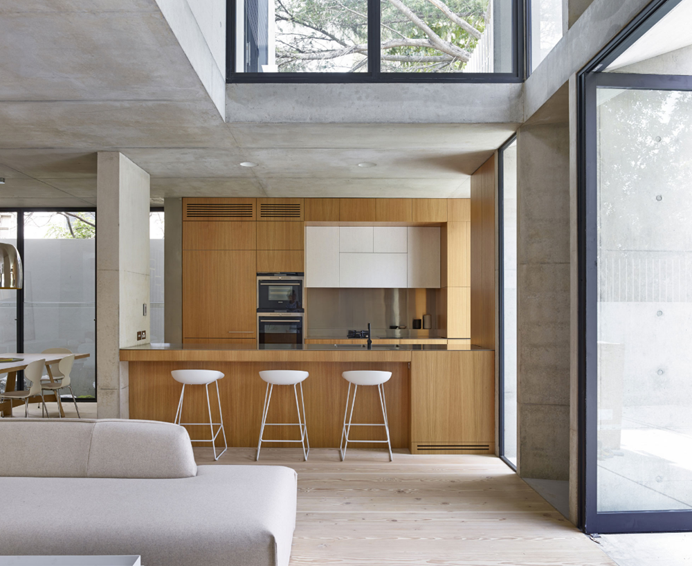Dise o de moderna casa de dos pisos estructura de for Ambientes de una casa moderna