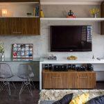 Moderna sala de pequeño departamento