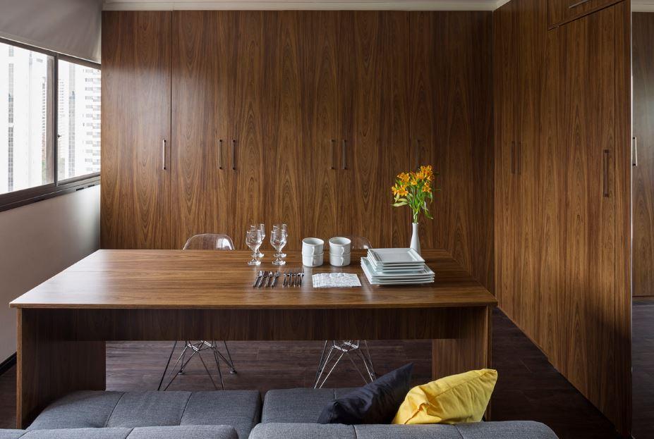 Peque os departamentos con dise o minimalista presenta - Decoracion de comedor moderno ...