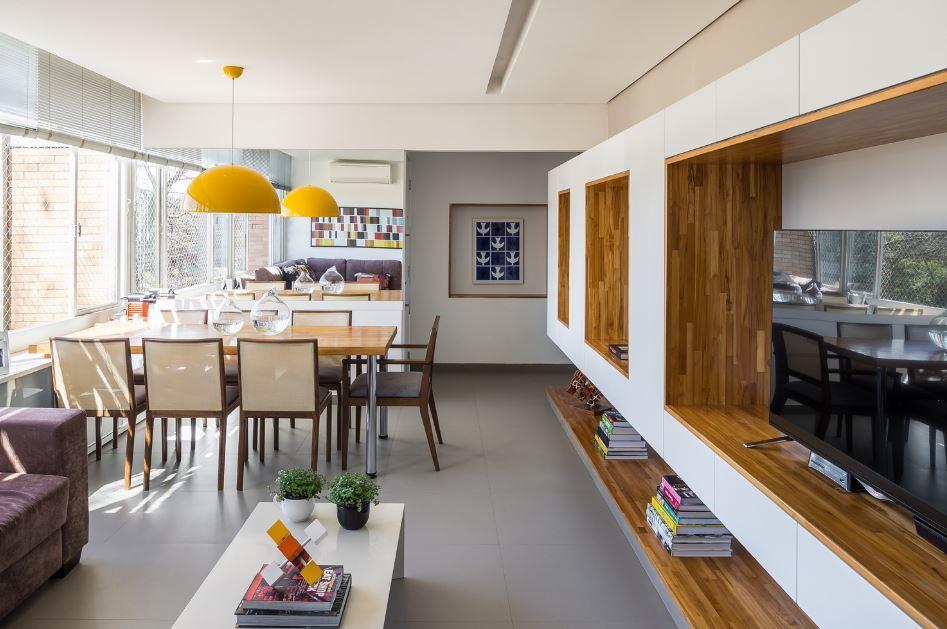 Plano de departamento de 80 metros cuadrados presenta for Diseno de interiores departamentos modernos