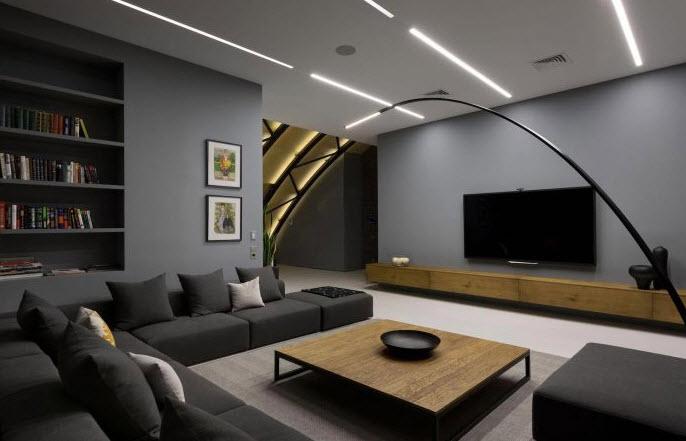Dise o de moderno departamento de un dormitorio espacios for Diseno de interiores departamentos modernos