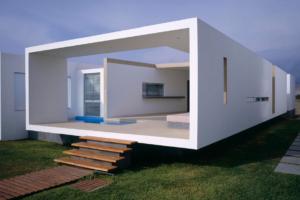 Moderno diseño de casa de playa