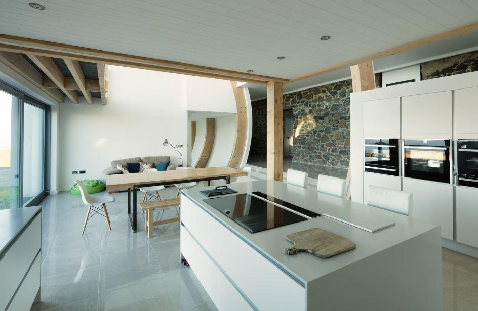 Dise o de moderna casa de dos pisos y cuatro dormitorios - Disenos de pisos para interiores ...