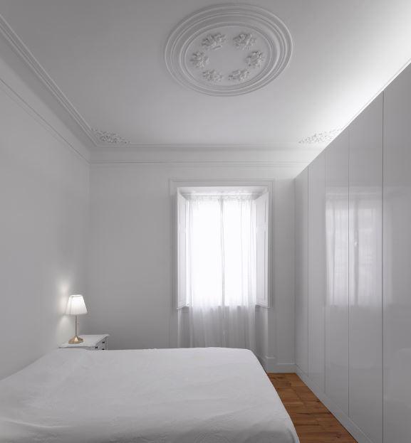 Moderno dormitorio color blanco