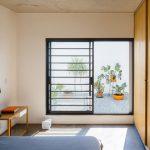 Moderno dormitorio de pequña casa