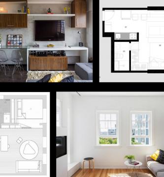 Dise o de departamentos modernos planos de arquitectura for Disenos para departamentos