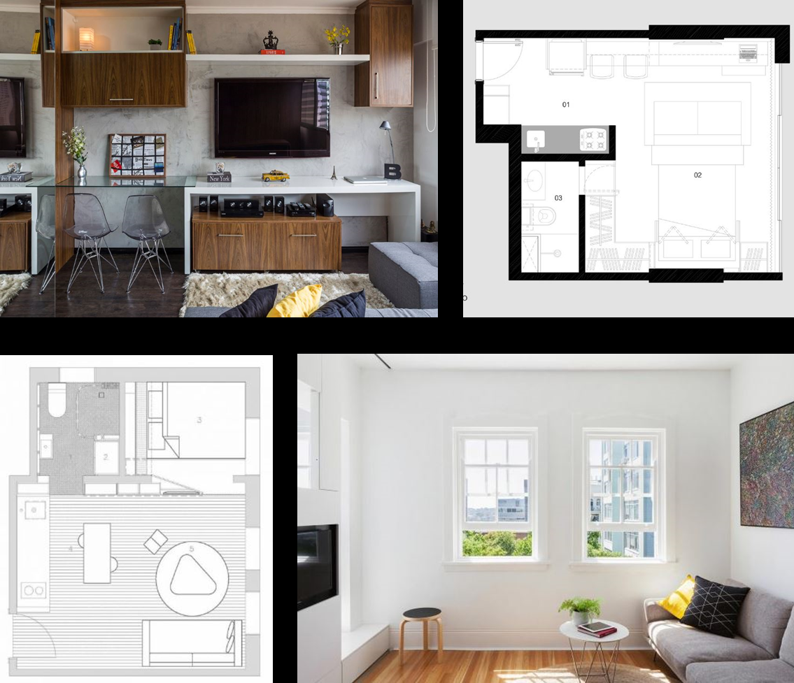 Peque os departamentos con dise o minimalista presenta for Apartamentos modernos minimalistas