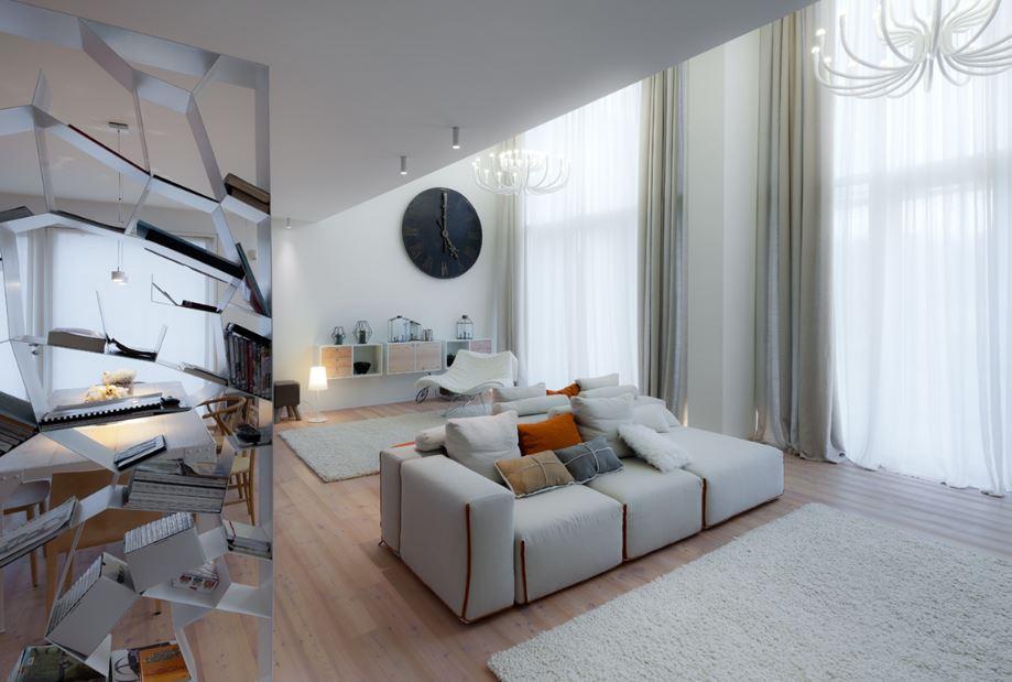 Modrno diseño interior de vivienda ecologica