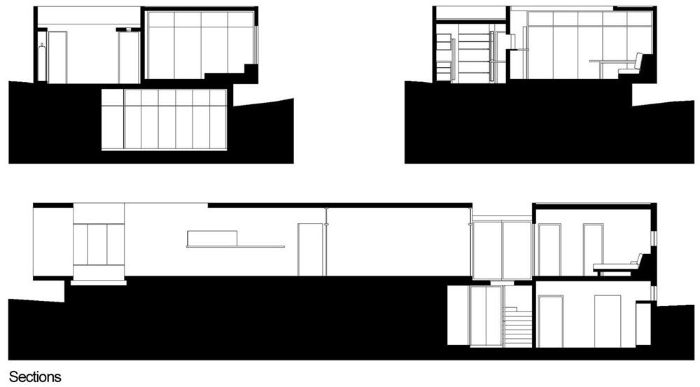 Dise o de moderna casa de playa amplios interiores for Diseno de interiores nota de corte