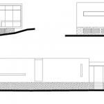 Elevaciones de moderna vivienda