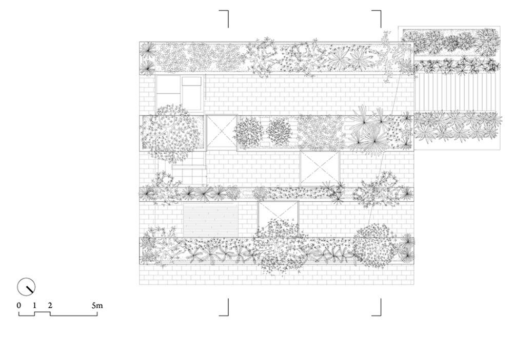 Planos de casa moderna de dos pisos con techo verde for Techos planos para casas
