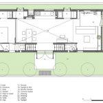 Plano del primer nivel de casa de ciudad