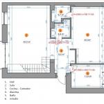 Plano del primer nivel de departamento