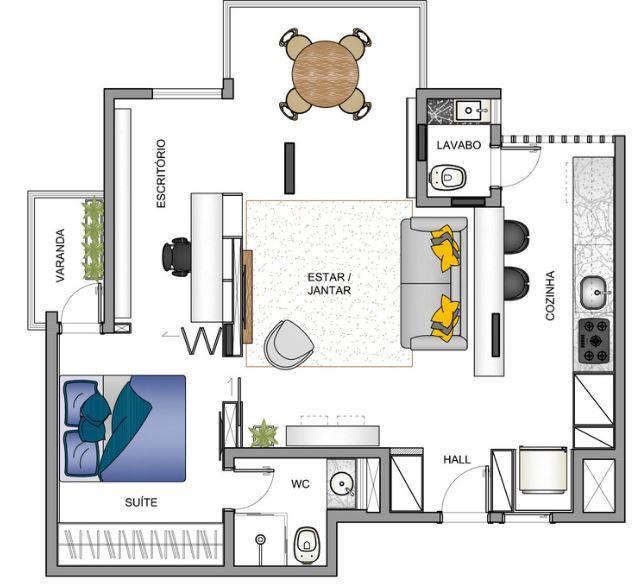 dise o de peque o departamento de 65 metros cuadrados